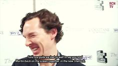 Interview with Benedict about Sherlock series 3 (gif set) - He is perfection. That is all.