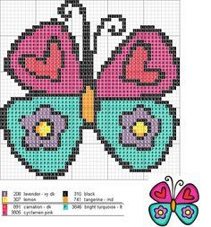 Karilla and Cross Stitch: Charts Cross Stitch For Kids, Cross Stitch Boards, Mini Cross Stitch, Cross Stitch Heart, Cross Stitch Animals, Cross Stitching, Cross Stitch Embroidery, Embroidery Patterns, Beading Patterns