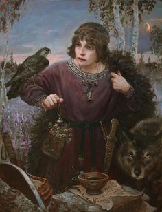 Volga (epic hero. As a child learned to turn into animals and understand their language)