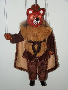 Bear , marionette puppet