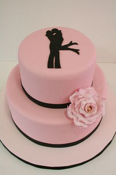 Pink silhouette.  Simple, but just right for the right wedding.  Plus it kinda looks like two girls.