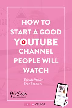How to start a good YouTube channel people will watch. Learn insider tips for YouTube on the newest podcast episode. Best video tips for people who love creating content. Episode 96 of The YouTube Power Hour Podcast with Shan Boodram. Host: Erika Vieira. #StartaYouTubeChannel #YouTuber #YouTubeChannel #ErikaVieira Social Media Marketing Courses, Content Marketing Strategy, Social Media Tips, Like Facebook, Blog Topics, Social Media Template, Blogging For Beginners, Pinterest Marketing, How To Start A Blog