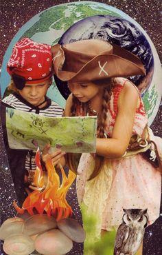 SoulCollage® Cards: Explorer and Ellen DeGeneris Soul Collage, Collage Art, Image Poetry, Glue Book, Expressive Art, Process Art, Archetypes, Photo Manipulation, Oracle Deck