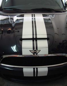"12"" Mini Cooper Racing stripes decals graphics - Click Image to Close"