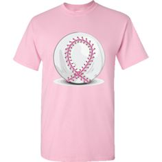 Pink Breast Cancer Ribbon Baseba T-Shirt - Light Pink $16.99