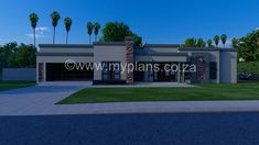 Four Bedroom House Plans, 2 Bedroom House, Flat Roof House Designs, Single Storey House Plans, House Plans South Africa, Architect Design House, Free House Plans, Tuscan House, Dream House Exterior