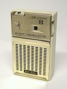 My first transistor radio was very similar to this one, back when there was only AM radio. It came with a single plug-in earphone (I listened in bed). The more transistors the better! This little gadget made a huge impression on me and led to many years working in the broadcast business.
