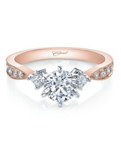 ($1397) Rose gold Coast engagement ring from Diamonds Direct. When it comes to beautiful engagement rings, Coast Diamond is the recommended choice to go for. Coast Diamond is excited to present you this side-stone ring to showcase your commitment to her. Set in a prong setting, round-cut stones artfully accessorize this ring with glamour and style. This magnificent engagement ring will serve as an everlasting memory as you begin your future together. #coast #engagementring #rosegold
