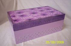 caixa de mdf decorada com decoupagem e estencil