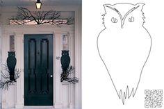 3. #Night Watchers - 10 #Awesome DIY Halloween Owl #Crafts ... → DIY #Black
