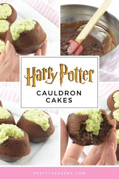 Harry Potter Recipes | Easy Cauldron Cakes a.k.a Chocolate Cupcakes with Green Frosting