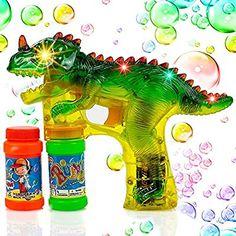 LED Seifenblasenpistole SOUND Flüssigkeit Seifenblasen Pistole Licht Bubble Gun