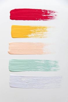 Get inspired by sorbet themed colors for paint and interior design home decor finds on domino. Domino shares ideas for painting and decorating your space in sorbet colors. for home Sorbet Color Palette For Paint Colour Pallete, Colour Schemes, Color Combos, Pastel Colour Palette, Winter Colour Palette, Color Patterns, Taupe Color Palettes, Palette Art, Paint Palettes