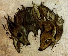 Fox tattoo idea without the smaller ones