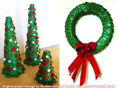 Duct tape Christmas wreath