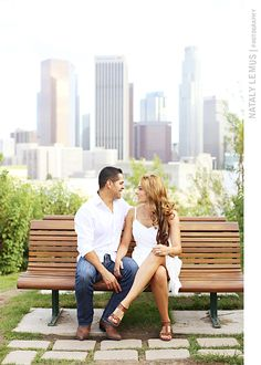 Downtown Los Angeles Skyline | Vista Hermosa Park | LA Engagement Session | Nataly Lemus Photography Blog