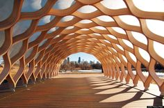Pavillion at Lincoln Park Zoo South Pond (Studio Gang Architects) #LincolnPark #Zoo #Chicago