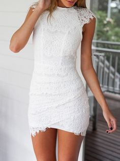 Round Neck Lace Bodycon Dress 29.67