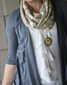 Infinity scarf - I really need to make a few of these to use up my stash of knit fabrics!