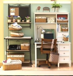 An organized office with all the comforts of home #Longaberger