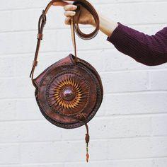 Bohemian leather crossbody bag {DESERT HORIZON saddlebag} Handmade and one of a kind.