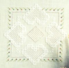 Hearts of Spring Doily Counted Thread Pattern INSTANT