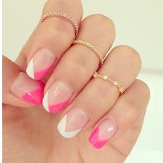 Pink and white Frensh Nails