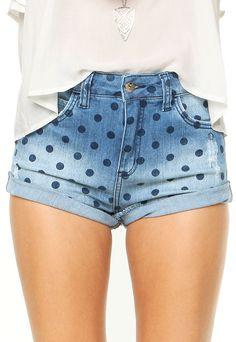 Short Jeans Colcci Poá Azul - Marca Colcci                                                                                                                                                                                 Mais