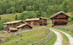 Houses from 1300 and 1500s in Setesdal, Norway