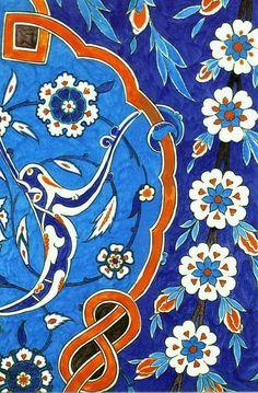 Details of Turkish İznik Tiles
