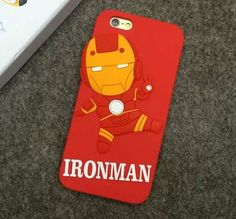 Iron Man Red Silicon iPhone Cover - World of Captain
