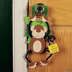 Foam Monkey Doorknob Hanger Craft Kit by crafts-4-kids