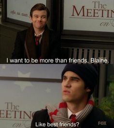Best friends? #Klaine #glee