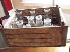 Antique milk crates!