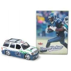 Seattle Seahawks NFL Diecast 2005 Cadillac Escalade with Darrell Jackson Fleer Ultra Trading Card by Fleer  $2.99