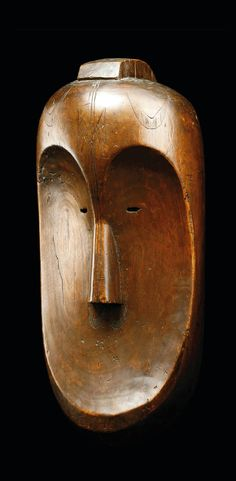 Africa | 'N'gil' mask from the Fang people of Gabon | Wood | ca. 19th century