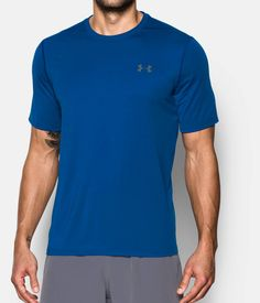 Women And Children Under Armour Mens Xl Blue Fitted Short Sleeve Shirt Heatgear Mesh Back Suitable For Men
