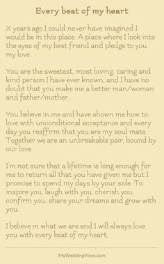 Wedding Quotes personalized wedding vows best photos wedding vows cuteweddingideas com is part of Traditional wedding vows - Wedding Quotes To A Friend, Best Friend Wedding Speech, Vows Quotes, Qoutes, Wedding Vows To Husband, Renew Wedding Vows, Best Wedding Vows, Wedding Ceremony Readings, Wedding Readings Funny
