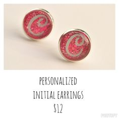 Personalized Initial Post Earring