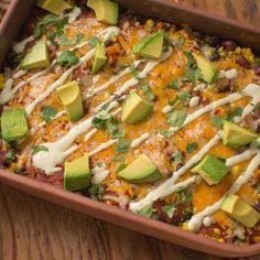 Healthy, simple meal ideas: Mexican Lasagna #shopmeals #relayfoods