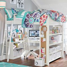 Teen Girl Bedrooms for dreamy room decor - Clever and cool decorating tricks. Pin number 6743779690 Categorized at diy teen girl bedrooms loft beds , generated on this moment 20190131 Bedroom Loft, Dream Bedroom, Bedroom Decor, Modern Bedroom, Bedroom Furniture, Trendy Bedroom, Bedroom Colors, Teenage Girl Bedrooms, Girls Bedroom