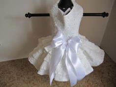 Perro vestido XS blanco ojal por el Closet por NinasCoutureCloset