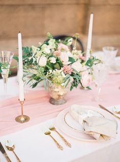 Romantic Pink Wedding Tablescape