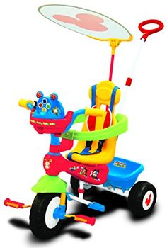 Kids' Pedal Cars - Kiddieland Disney Mickey Mouse Clubhouse Push N Ride Trike >>> Click image to review more details.