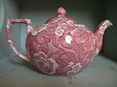 Lovely+Red+Victorian+Chintz+China+Teapot+by+MoonstruckVintageAZ,+$34.99