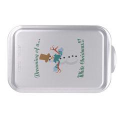Snowman Cake Pan http://www.zazzle.com/snowman_cake_pan-256062811764408463?rf=238271513374472230  #christmas  #christmasdécor