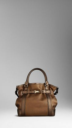 Large Grainy Leather Tote Bag | Burberry