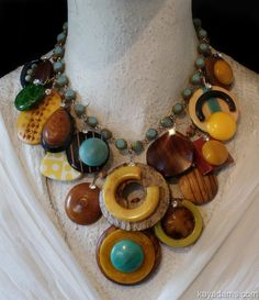 L3381 Kay Adams necklace made with Vintage pieces.