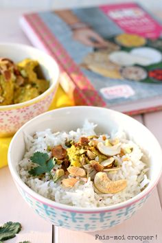 Poulet-Korma-et-riz-basmati. Korma, Bollywood Kitchen, Blog Healthy, Bento And Co, Food And Drink, Breakfast, Recipes, Sauces, Paradise