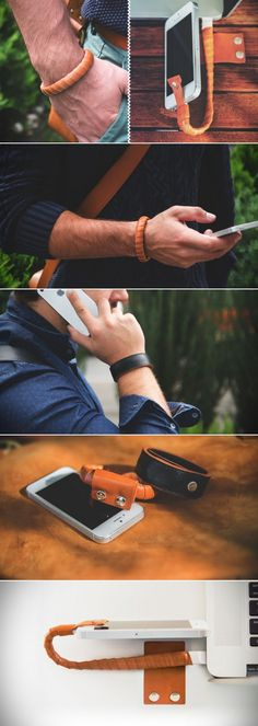 Bracelet charging cable lets you wear it so you won't forget to bring your cable again.